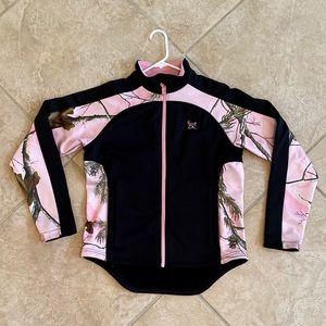Bushmaster Black & Pink Camo Full ZIP Jacket sz M